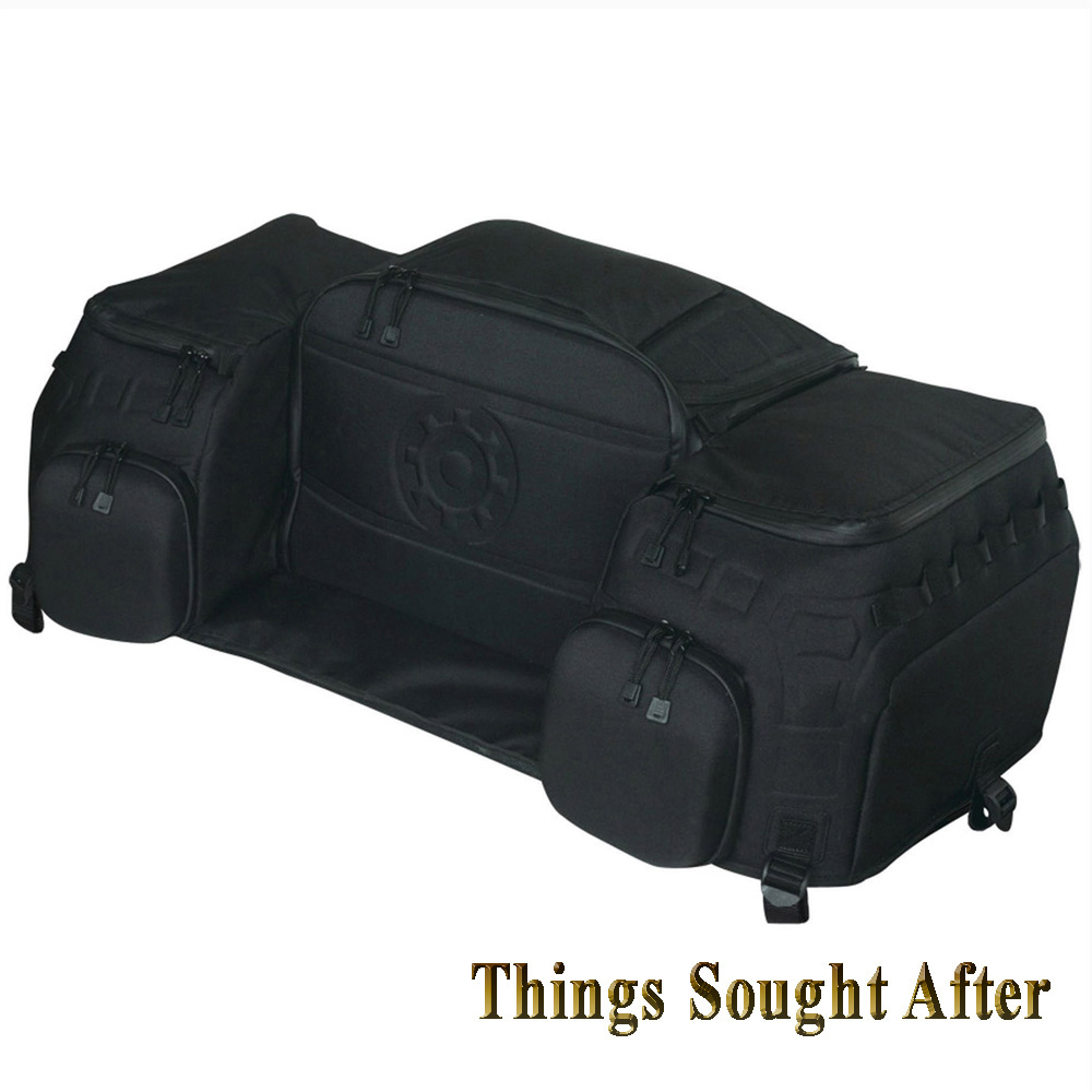 rear rack bag for atv cargo luggage gear storage trunk