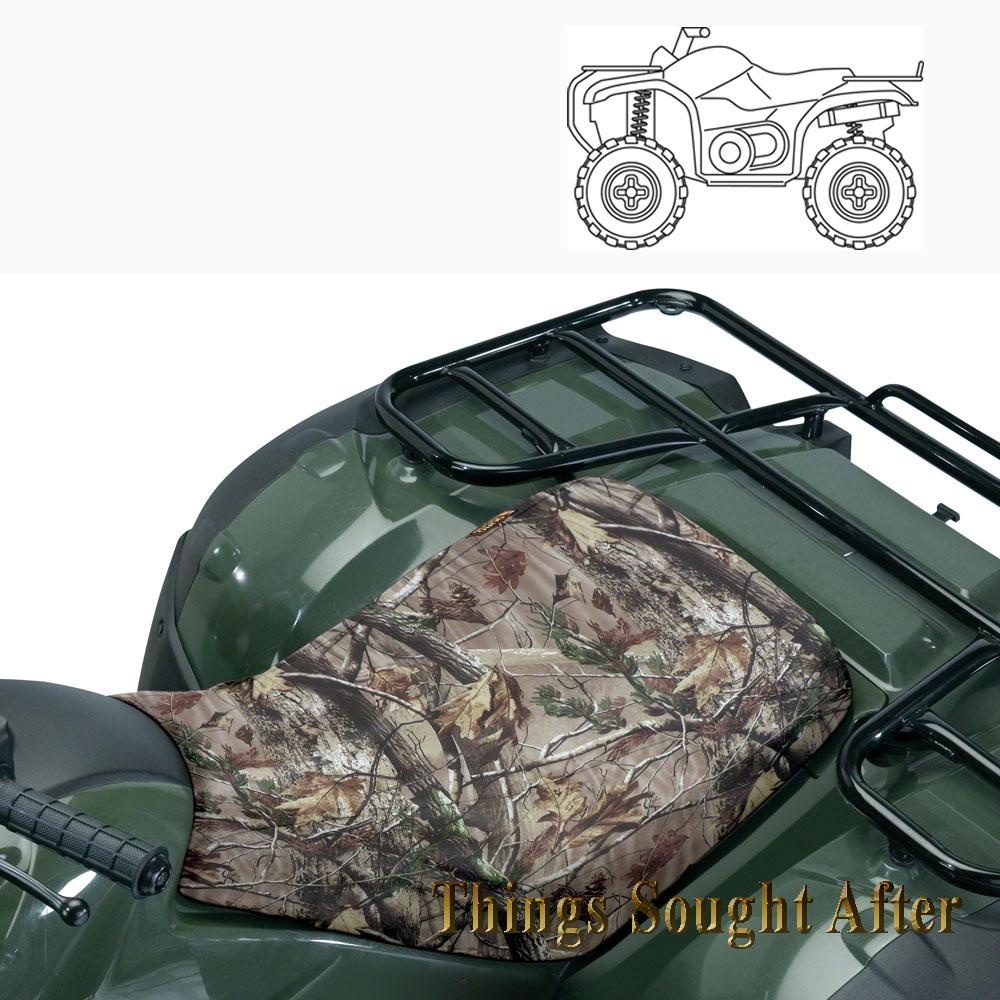 Camo Atv Seat Cover For All Terrain Vehicle 4 Wheeler Quad
