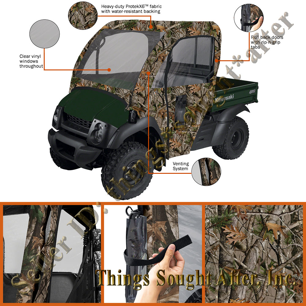 Camo Cab Enclosure For 2011 2012 2013 Kawasaki Mule 600