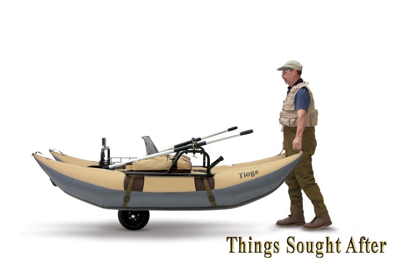 Tioga 9 ft pontoon boat for fly fishing straw wood ebay for Fly fishing pontoon boats