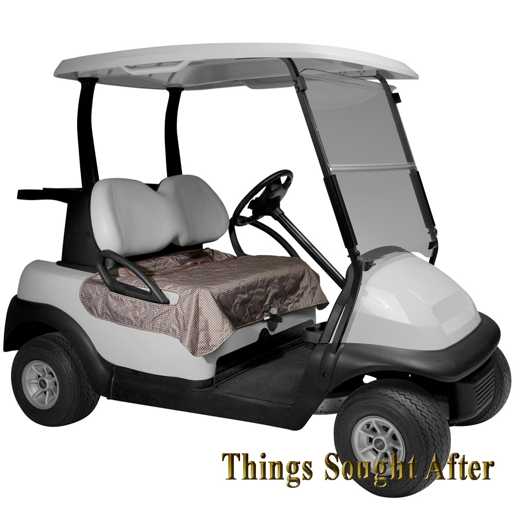Houndstooth Seat Blanket For Golf Car Quilted Fleece Cart