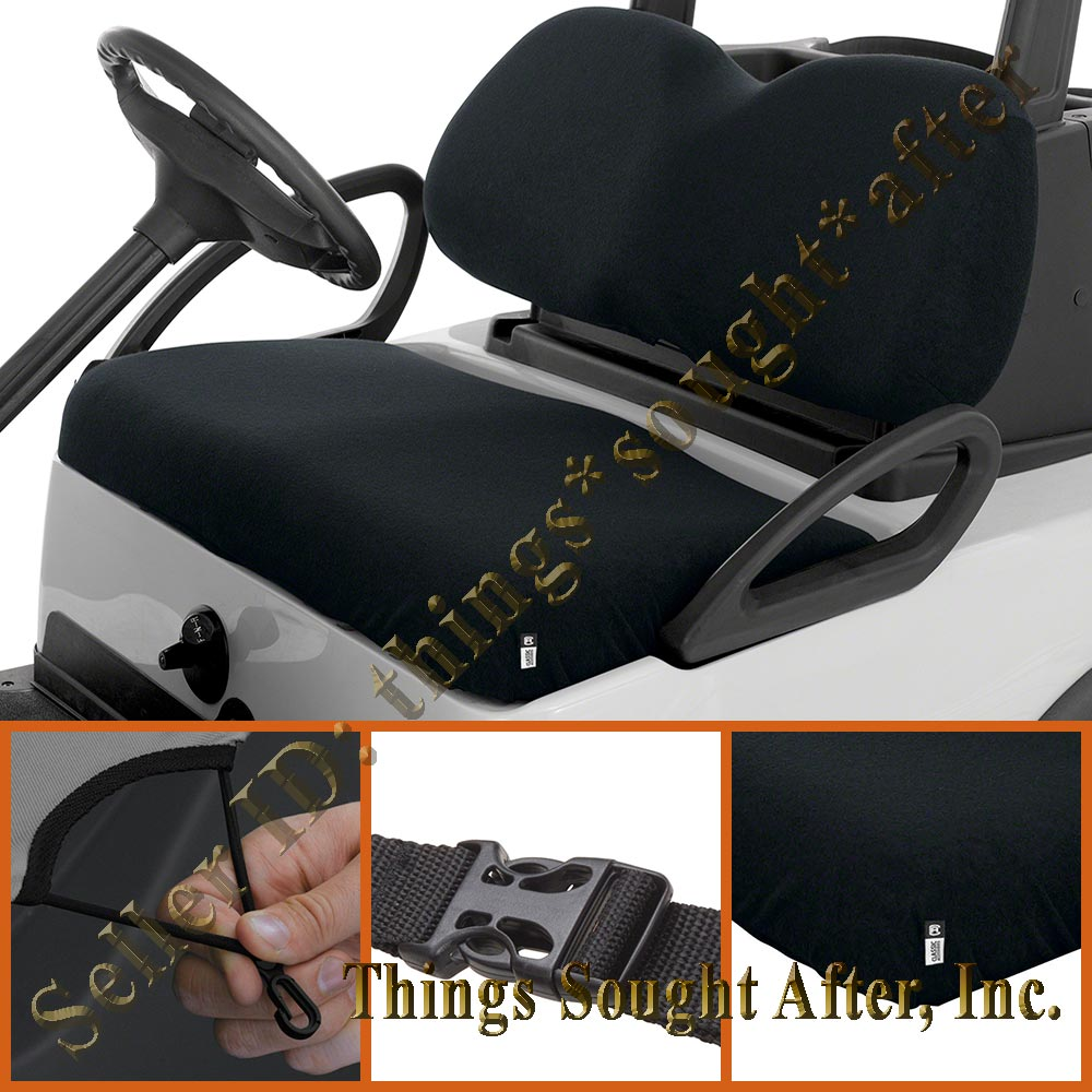 Black Terry Cloth Seat Cover For Club Car Golf Cart 2 4 6