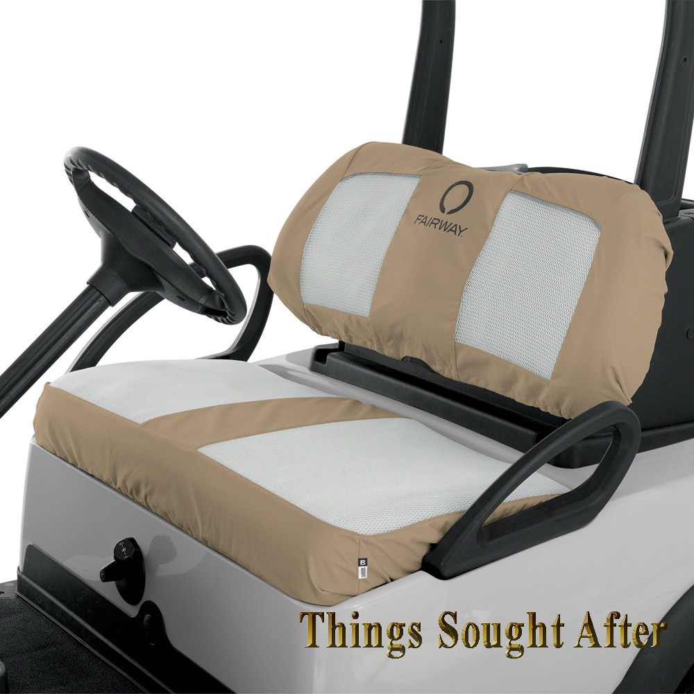 khaki white air mesh seat cover for club car golf cart 2 4 6 8 person man set. Black Bedroom Furniture Sets. Home Design Ideas