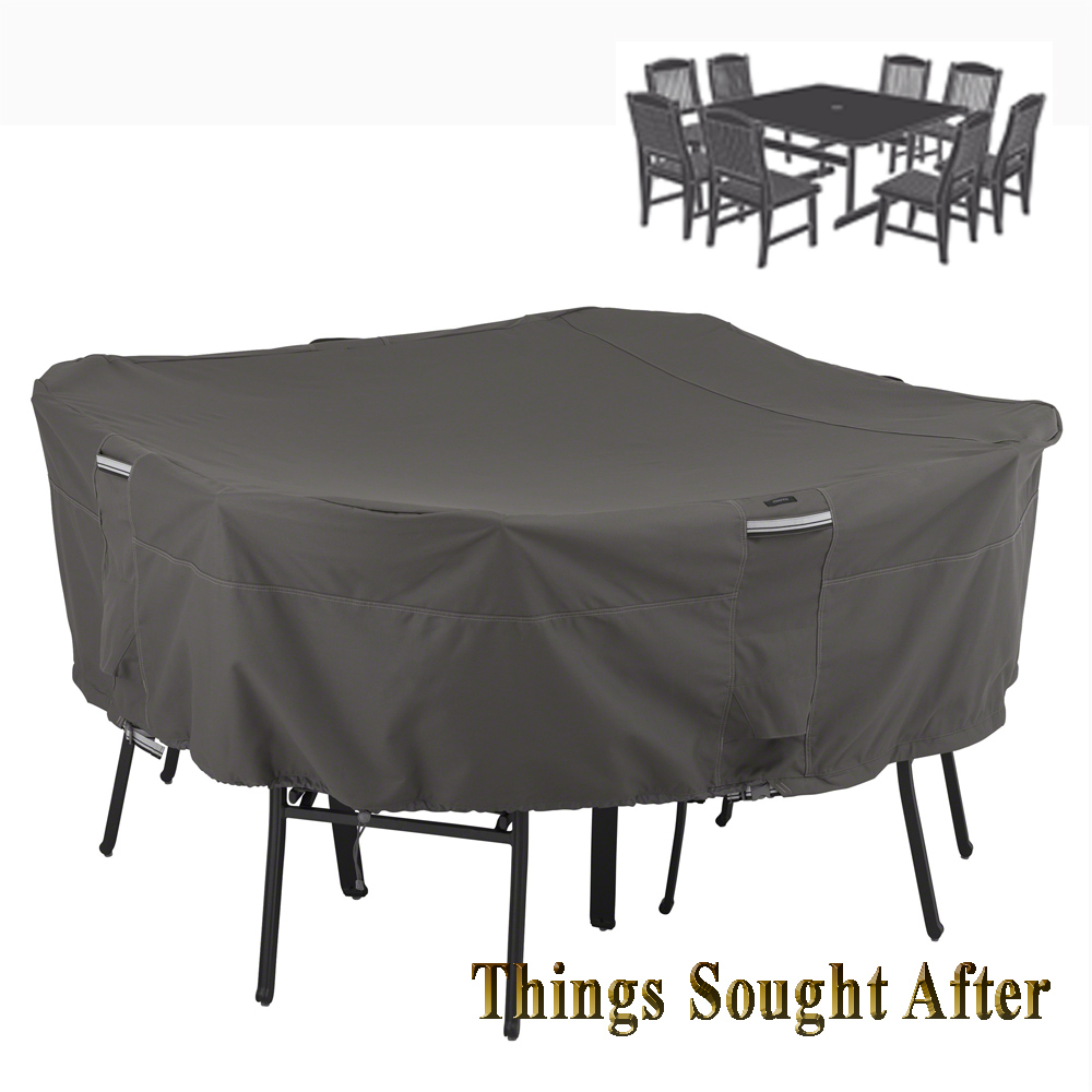 COVER for LRG SQUARE PATIO TABLE & CHAIR SET Outdoor Furniture Picnic RAV