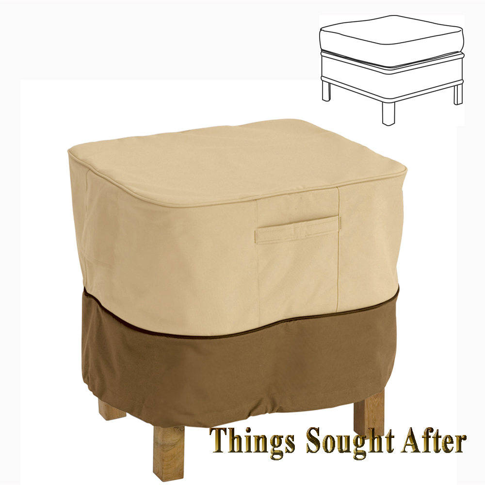 """COVER for 21"""" SMALL SQUARE OTTOMAN or TABLE Outdoor Furniture Patio Deck"""
