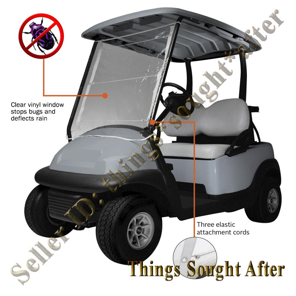 Portable vinyl windshield for yamaha golf car cart wind for Yamaha sun classic parts