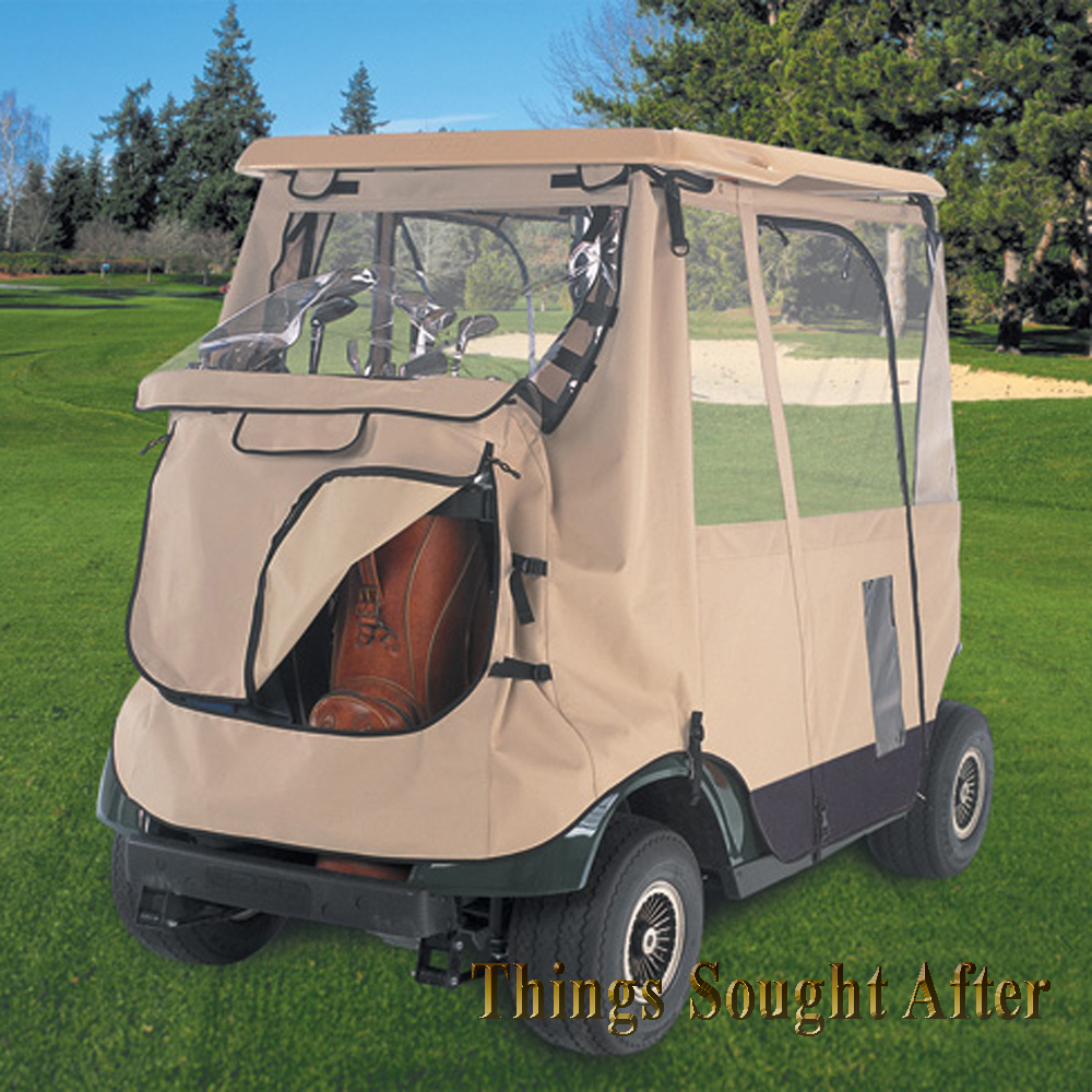 Deluxe Three Sided Golf Cart Enclosure For Club Car Ds Two