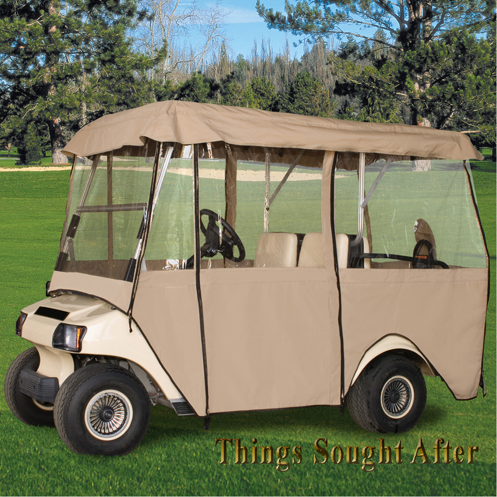 DELUXE FOUR SIDED GOLF CART ENCLOSURE For CLUB CAR DS 4