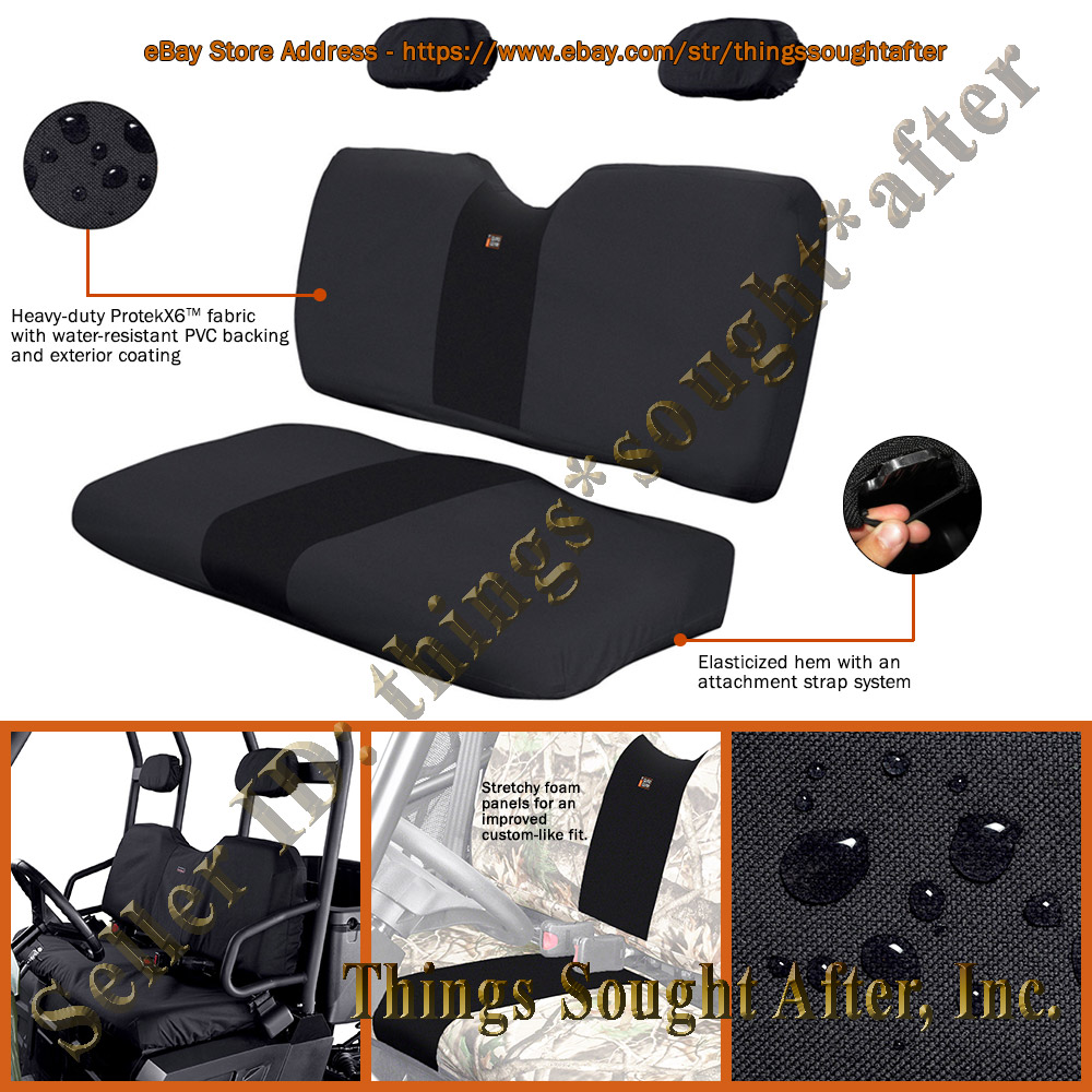 Black Seat Covers For Specific 2008 Polaris Ranger Utv