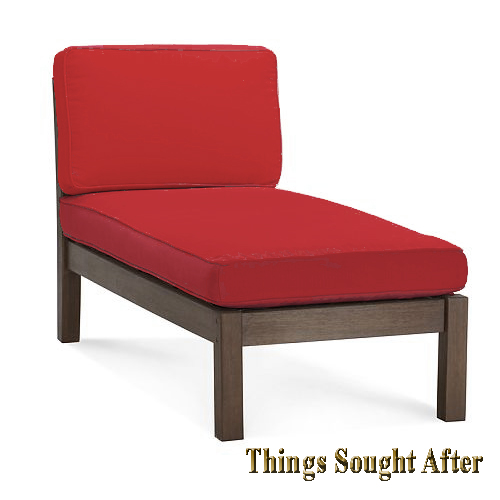 Pottery Barn CHESAPEAKE CHAISE LOUNGE CHAIR Red Outdoor