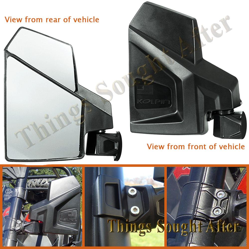 Side View UTV Fold-away Mirrors Polaris Ranger XP 900 Pro fit Roll Cage
